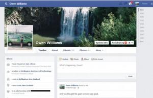 Facebook trials tweaked single-column Timeline design 2013