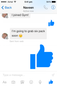 Facebook Messenger update big likes